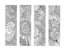 Bookmarks Coloring Pages Batik Colouring Page Happy