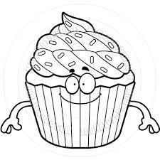 best happy birthday cupcake clipart toonvectors file free