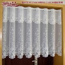 cantonniere pour cuisine cagne demi rideau luxueux brodé fenêtre cantonnière dentelle