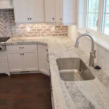 white and gray brick cooktop tiles transitional kitchen