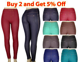 new women skinny colorful jeggings stretchy pants soft