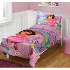 dora the explorer bedding 4 piece satin toddler bedding at toystop