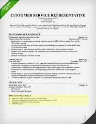 Customer Service Resume Examples