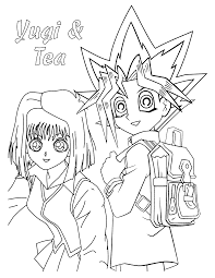 Character Yugioh Coloring Pages