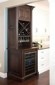 Corner Wine Bar Fridge Cabinet Glass Racks Storage Solutions Dining Room Barrel
