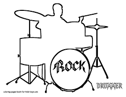 Drums Instrument Coloring Pages