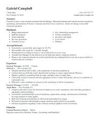 Manager Restaurant Resume Assistant Nurse Management