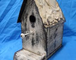 French Country Bird House Victorian Style Birdhouse Functional Shabby Chic