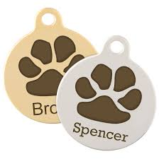 Dog Paw Print Pumpkin Stencils by Metal Dog Tags With Traditional Design Dogids