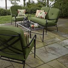 Kmart Jaclyn Smith Patio Furniture by Jaclyn Smith 4 Piece Winslet Seating Set With Glass Topped Table