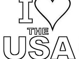 I Love The USA Coloring Book Page Free Print And Color