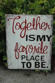 Together Is My Favorite Place To Be Couples Home Bedroom Sign For Husband