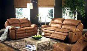 Faux Leather Living Room Furniture Sofa Rustic Brown Couches Fantastic