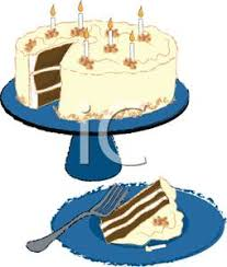 A Slice of Birthday Cake Clipart
