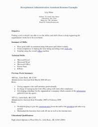 General Resume Objective Examples For Receptionist Best Sample Cover Letter Front Desk Beautiful