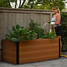 gronomics rustic elevated garden bed