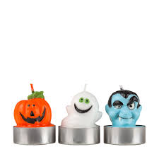 Halloween Flameless Taper Candles by Figurine Candles Ghost Pumpkin Dracula Candles