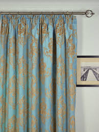 Teal Blackout Curtains Pencil Pleat by Angel Jacquard European Style Floral Pencil Pleat Chenille Curtain
