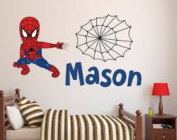 spider wall decal etsy