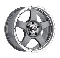 100 Discount Truck Wheels Level 8 Punch Rims 16x85 5x135 Anthracite Gray 6 1685LPN