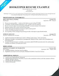 General Resume Examples 2017 And Bookkeeping Skills Bookkeeper Sample For Jobs Frame Awesome Objective