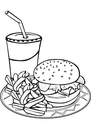 Printable 34 Junk Food Coloring Pages 10094 Free