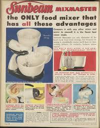 1953 1950s Sunbeam Mixmaster Ad