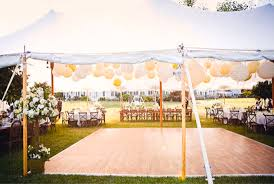 Outdoor Wedding Reception Custom Tent Ideas