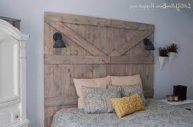 Old Barn Door Headboard White Shade Table Lamp Brown Laminate ... Bedroom Good Looking Diy Barn Door Headboard Image Of At Plans Headboards 40 Cheap And Easy Ideas I Heart Make My Refurbished Barn Door Headboard Interior Doors Fabulous Zoom As Wells Full Rustic Diy Best On Board Pallet And Amazing Cottage With Cre8tive Designs Inc Fniture All Modern House Design Boy Cheaper Better Faux Window Covers Youtube For Windows