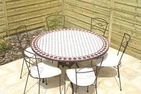 table ronde mosaique fer forge awesome table de jardin mosaique et fer forge contemporary