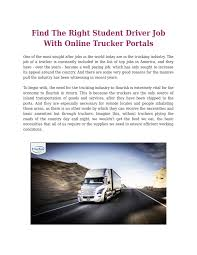 Find The Right Student Driver Job With Online Trucker Portals By ... Trucking Carrier Warnings Real Women In Inexperienced Truck Driving Jobs Roehljobs By Location Experienced Driver Testimonials Company Flatbed Truck Driving Jobs Available For Class A Cdl Knight Traportations Salaries For Drivers How To Pay Off Student Loans Become A Traing Schools Roehl Transport Job Fair Tcat Shelbyville Are You Hoping Shortcut Get Your It Just Doesnt