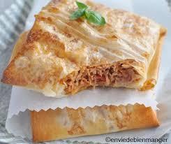 cuisine feuille de brick recette de thon à la tomate en feuille de brick recettes diététiques
