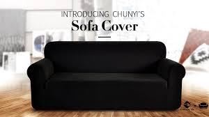 Amazon Living Room Chair Covers by Amazon Com Chunyi Jacquard Sofa Cover 1 Piece Polyester Spandex