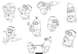 Coloring Page Minions Animation Movies 10