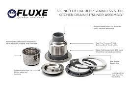 Install Sink Strainer Basket by Fluxe 3 5 Inch Stainless Steel Deep Waste Basket Kitchen Sink