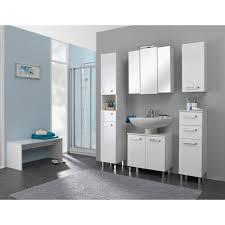 badezimmer hochschrank in weiß glanz wiesbaden 25 x 195 cm