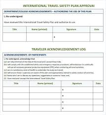 Letter Template Safety Plan