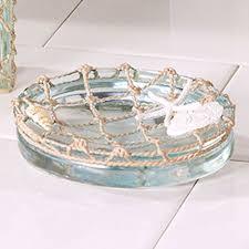 Beach Glass Bath Accessories by Sea Glass Resin Coastal Bath Accessories