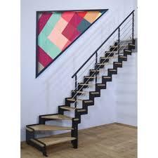escalier 2 quart tournant leroy merlin escalier quart tournant structure acier marche bois lamellé collé