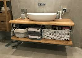waschtischplatte waschtisch badezimmer holzplatte eiche