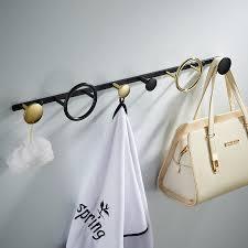 mode qualität insgesamt messing gold messing fertige badezimmer 4 robe 1 ring haken küche kleiderbügel schwarz bad zubehör chrom