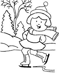 Printable Winter Scene Coloring Pages Free Disney Sports