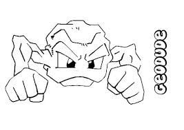Geodude Pokemon Coloring Page Color Online Print