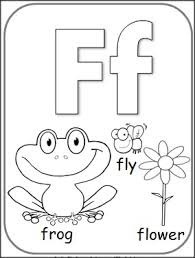 Free Letter F Alphabet Coloring Page
