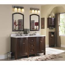 Allen And Roth Bathroom Vanity by Shop Allen Roth Moravia 60 In X 20 In Sable Undermount Double