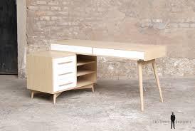bureau chene clair bureau meuble style vintage scandinave chene clair pieds compas
