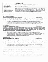 Security Manager Resume Best Officer Sample Needs To Be Of Inspirational