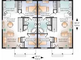 Images Duplex Housing Plans by 2 Family Duplex House Plans Modern Hd