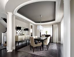 Dining Room Inspiration For A Transitional Remodel In Toronto With Gray Walls And