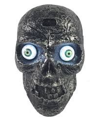 Motion Activated Halloween Decorations Uk by Amazon Com Sound Activated Skull With Glowing Eyes And Creepy